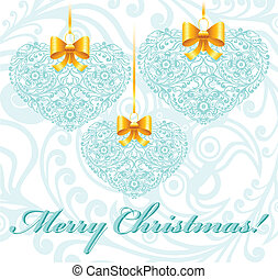 Christmas card with patterned heart