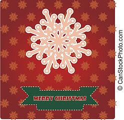 Christmas card with pink snowflake