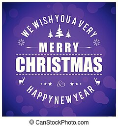 Christmas card with purple background