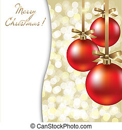 Christmas Card With Red Ball