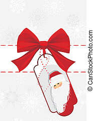 Christmas card with red bow