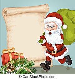 Christmas card with dutch santa claus sinterklaas and black piet christmas card with santa claus m4hsunfo