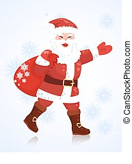 Christmas card with Santa Claus  for your design