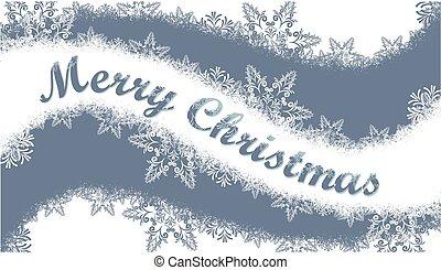 Christmas card with snow.