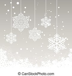 christmas card with snow