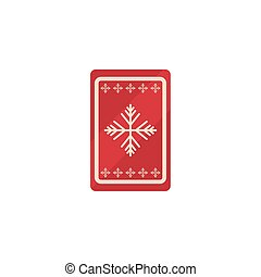 christmas card with snow flakes