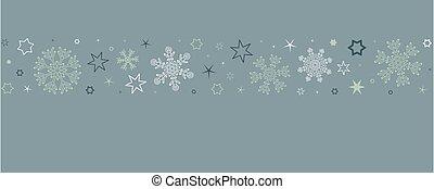 christmas card with snowflake border