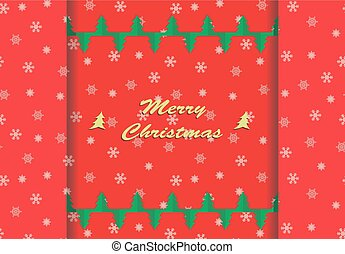 Christmas card with snowflake ornaments. Vector