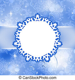 Christmas card with snowflakes. EPS 8