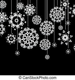 Christmas card with snowflakes. + EPS10