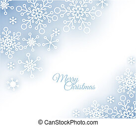 Christmas card with snowflakes on the background