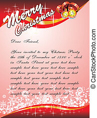 Christmas Card with space for text