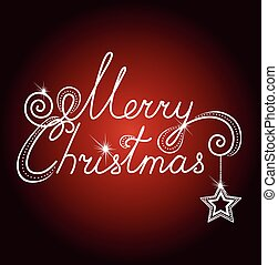 Christmas card with stars and beads