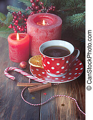 Christmas card with tea