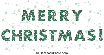 Christmas card with the inscription. The message is...