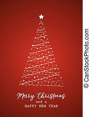 Christmas card with tree design