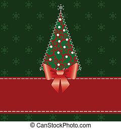 Christmas card with tree