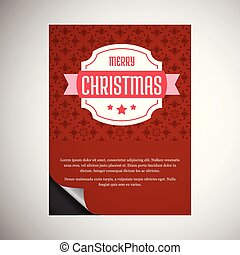 Christmas card with typographic