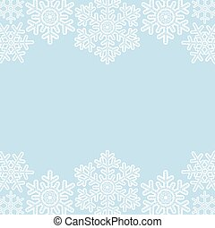 lace snowflakes borders on blue