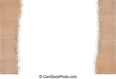 Christmas cardboard frame on white background