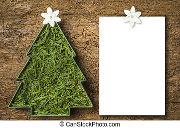 Christmas cards, blank letter.