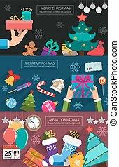 Christmas cards flat design