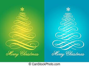 Christmas cards, vector set