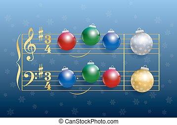 Christmas Carol Balls - Christmas carol composed of colorful...