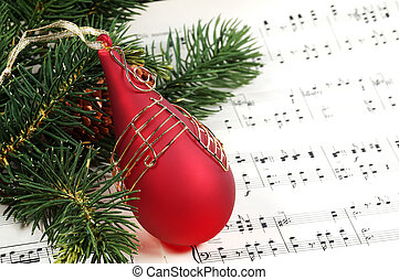 Christmas Carol - Christmas Ornament and Sheet Music