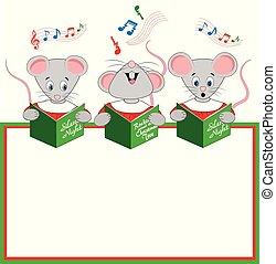 Christmas Carols Sung by Three Choir Mice - A Christmas...