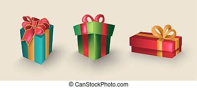 Christmas cartoon gift box set for decoration