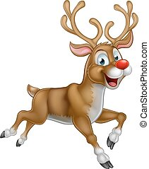 Christmas Cartoon Reindeer - A happy cartoon Christmas...