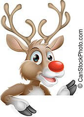 Christmas Cartoon Reindeer
