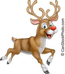 Christmas Cartoon Reindeer - A happy cartoon Christmas...
