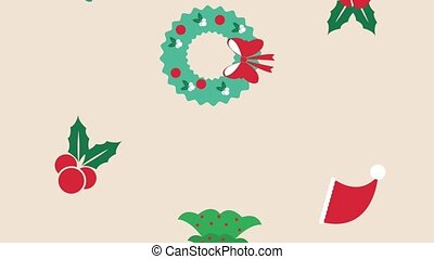 Christmas cartoons background HD animation