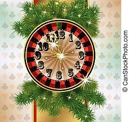 Christmas casino banner, vector
