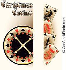 Christmas casino poker cards