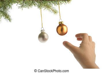 christmas catching balls