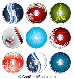 Christmas cd&dvd labels - Christmas cd & dvd label set with...