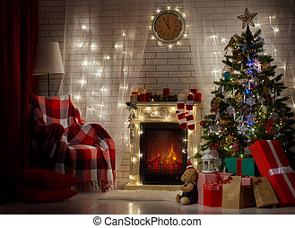 christmas celebration - A beautiful living room decorated ...