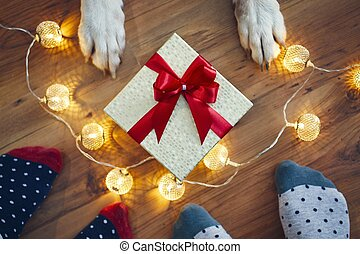 Christmas celebration at home