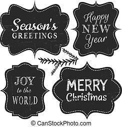 Christmas Chalkboard Labels