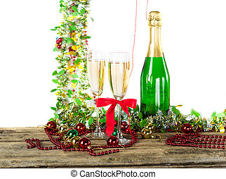 Christmas champagne goblets - Christmas champagne glass...