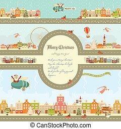 Christmas characters on City