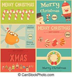 Set of Cute Christmas Mini Posters