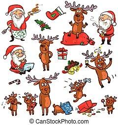 Christmas characters - set