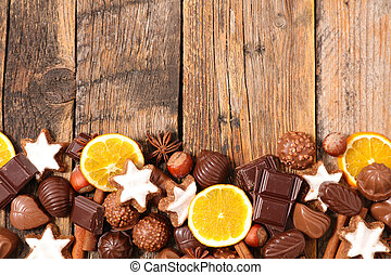 christmas chocolates background