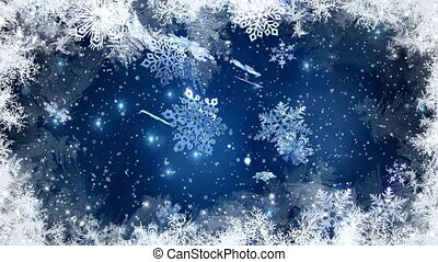Christmas , Christmas background , Falling snowflakes, blurred Christmas background, Happy New Year 1