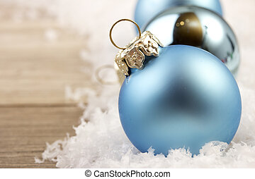 christmas, christmas ornament blue