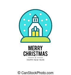 christmas church isolated icon